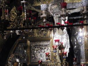 An altar that stands above Golgotha.