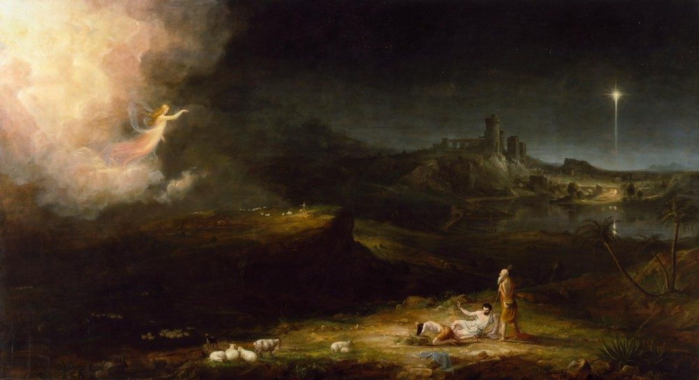 The Angel Appearing to the Shepherds by Thomas Cole.