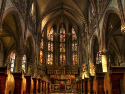 A cathedral's sanctuary